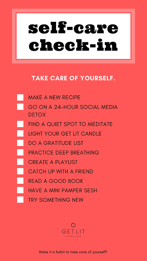 Self-Care Checklist Advocacy Interactive