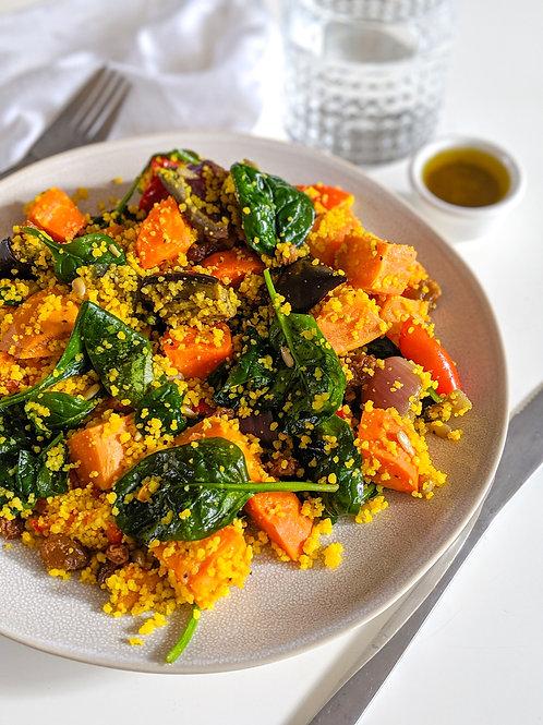 Couscous & Roast Veggies Salad (df, vegan), serves 2