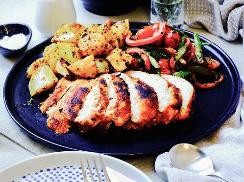 Smokey Paprika Chicken & Crusty Potatoes (gf, df), serves 2