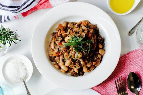 Vegan Cassoulet (vegan, df, gf), serves2
