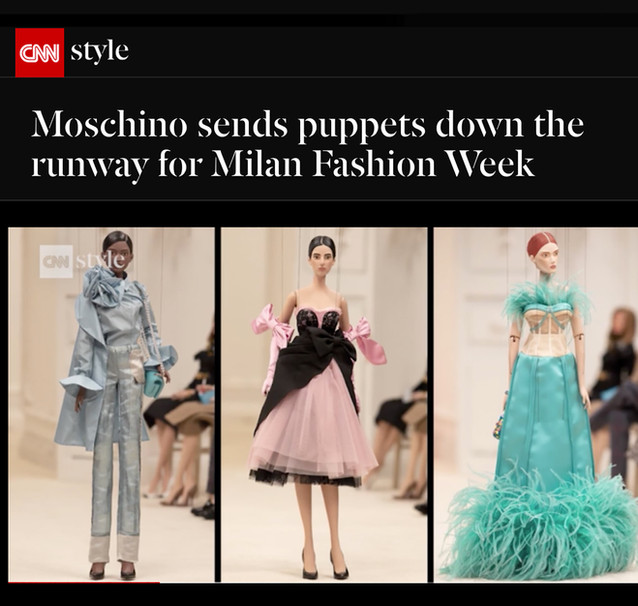 Moschino sends puppets down the runway for Milan Fashion Week