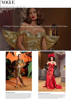 5 Things To Know About Moschino's Fabulous Old Hollywood AW21 Show