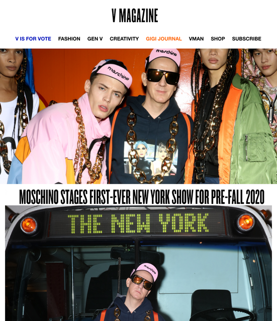 MOSCHINO STAGES FIRST-EVER NEW YORK SHOW FOR PRE-FALL 2020