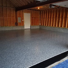 Garage floor completed in Holbrook_Epoxy