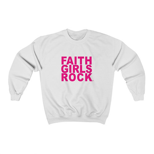 Faith Girls  Rock Heavy Blend™ Crewneck Sweatshirt