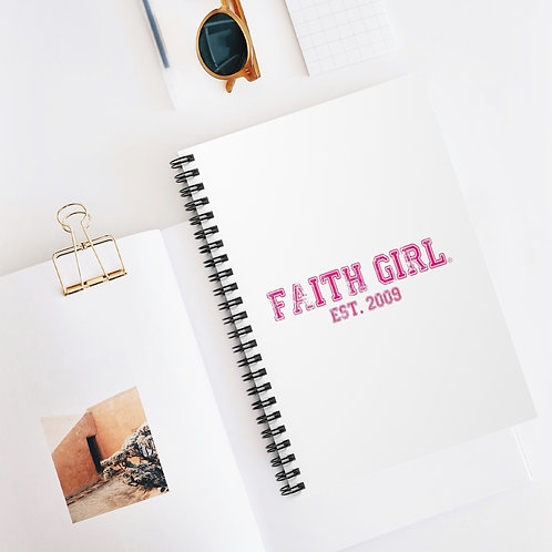 Faith Girl Est. Spiral Notebook - Ruled Line