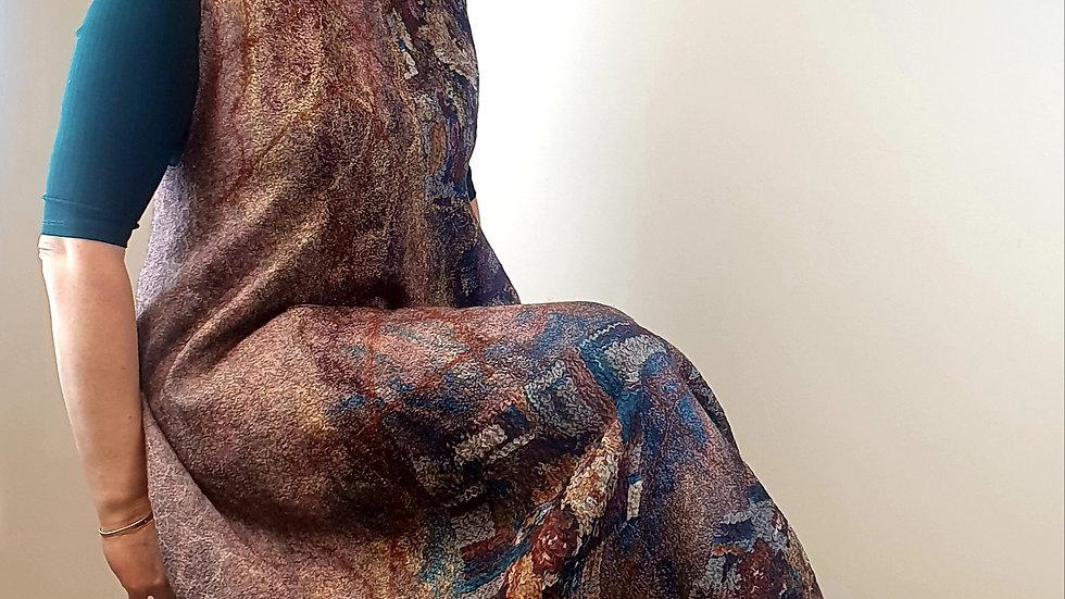 Reversible nunofelted dress