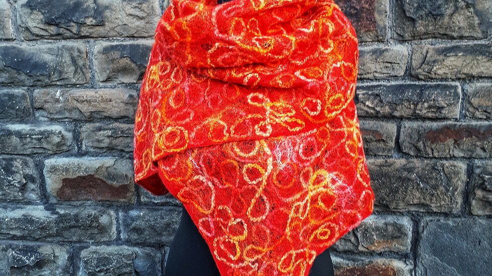 """""""Sunset"""" Felted scarf"""
