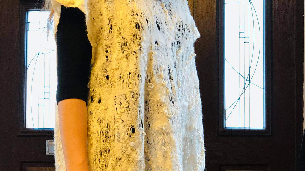 'Wool&Silk Lace' felted Tunic