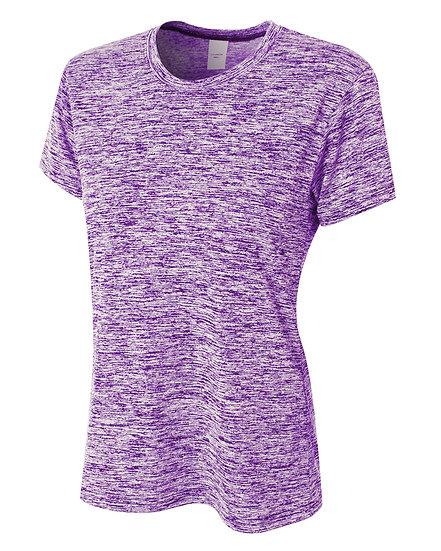 NW3296: A4 Ladies' Space Dye Tech T-Shirt