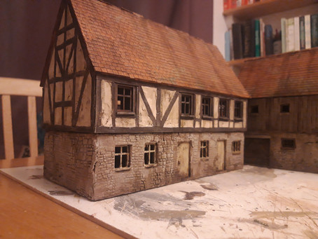 Raising a Barn – Adding details to an MDF Kit with @Joe_Wargamer