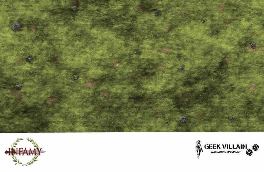 Geek Villain Games 6x4 Infamy Infamy Grassy Hill Mat