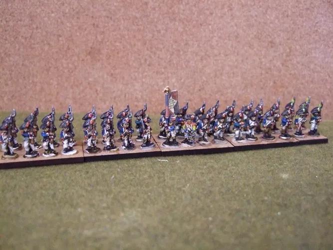 10mm Napoleonic French 36 figure battalion (Bicorne)