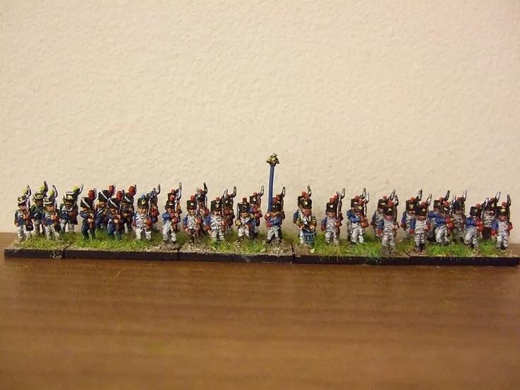 10mm Napoleonic French 36 figure battalion (Shako)