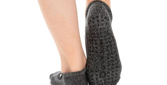 Isabella Grip Sock Silver