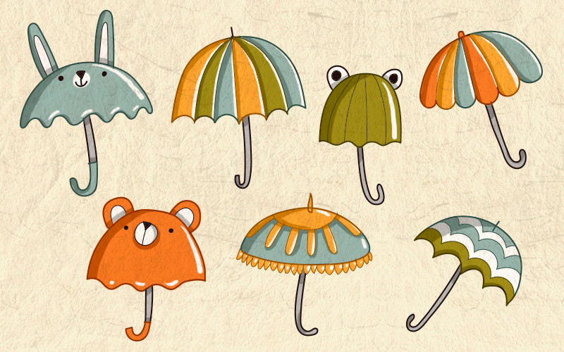 Разукрашиваем зонты