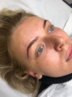 Microblading brow tattoo