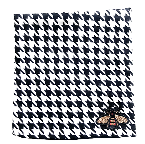 Houndstooth Reversible  Cover/Headband