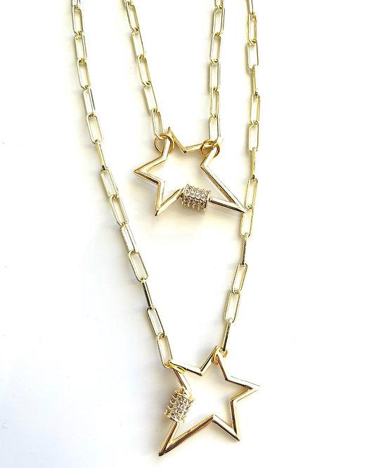 Lucky Star Paper Clíp Choker Necklace