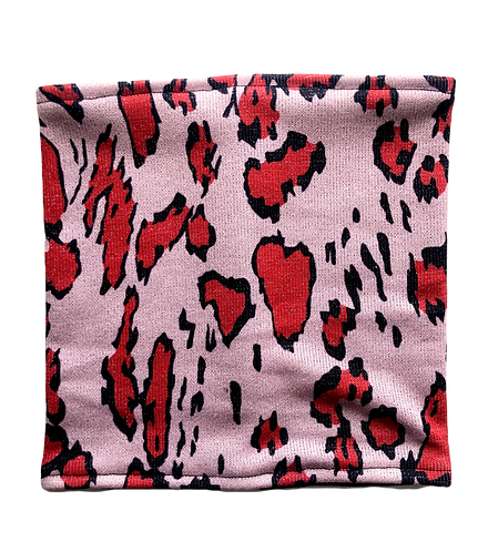 Pink Animal Print Stretch Reversible Cover