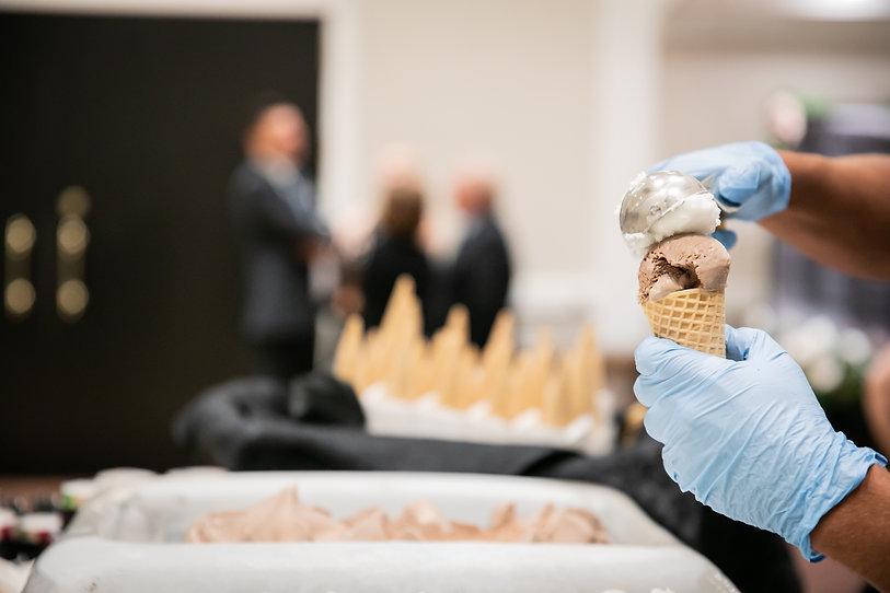 Server scooping ice cream at event.jpg