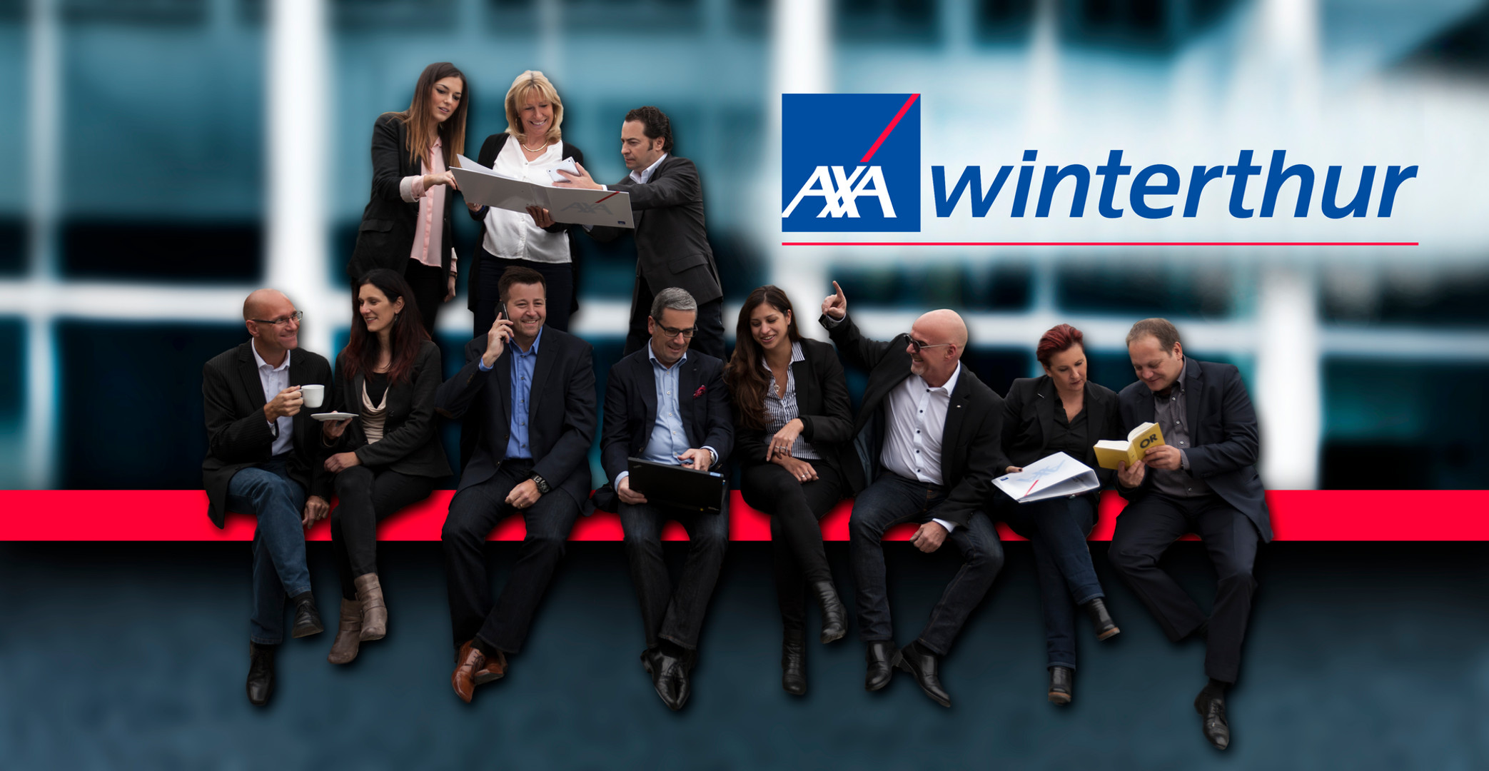 Lustige Mitarbeiterfotos - AXA - Andy Hunger