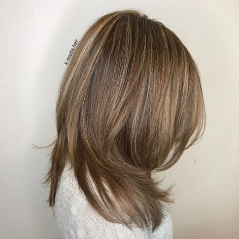 """A root colour and babylights made for the perfect """"bronde"""""""