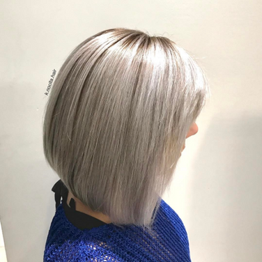 Stormy silver for a twist on classic blonde