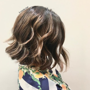 Fresh cut, root colour and toner on existing balayage