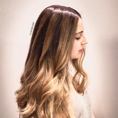 Full head of balayage and ombré