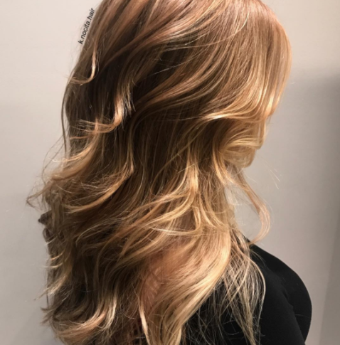Natural strawberry blonde with soft balayage