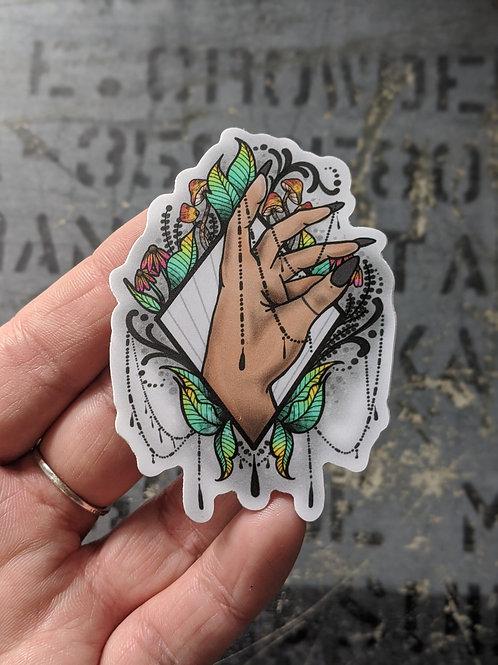 Witch Hand Sticker