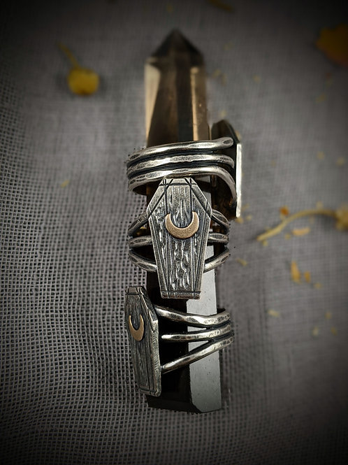 Last Words Coffin Ring - Midnight Macabre Collection
