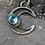 Thumbnail: Crescent Gem Drop Necklace - Aura Quartz