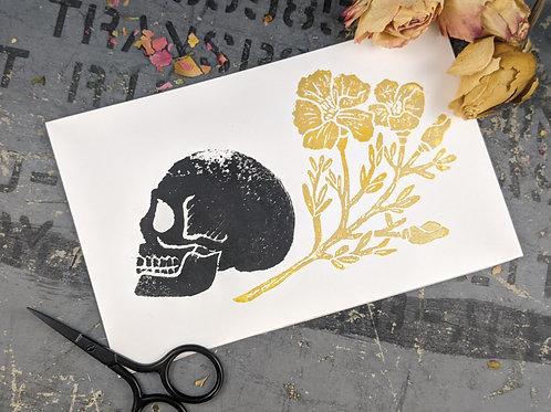 Skull & Poppys Block Print