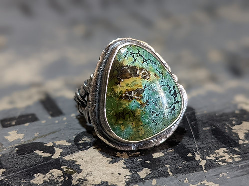 Relic Ring : Turquoise with Signature Relic Band Size 8 3/4