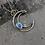Thumbnail: Crescent Gem Drop Necklace - Opal
