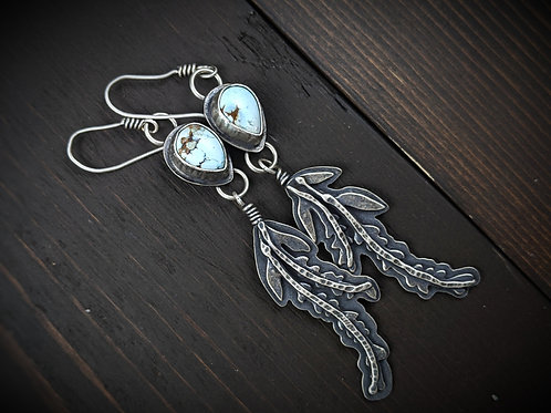 Lavender Herb Witch Earrings
