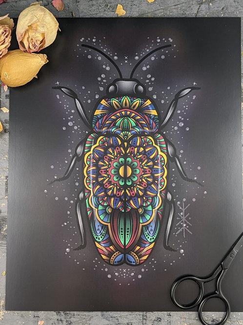 Mandala Beetle Print