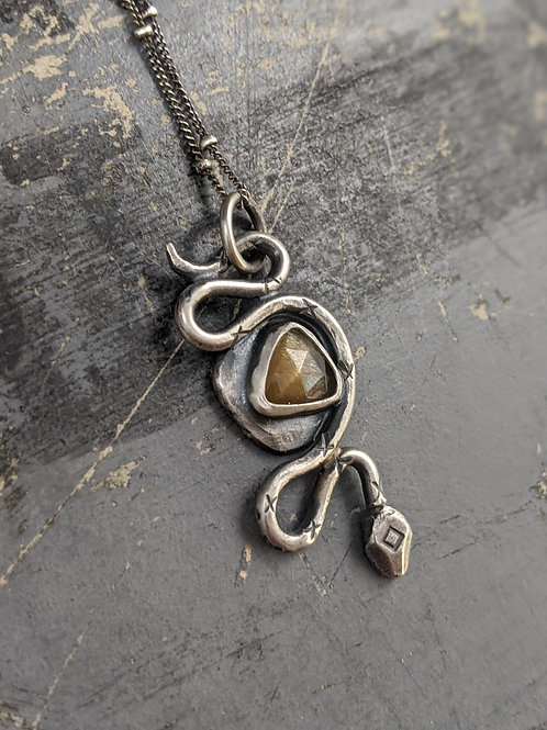 Snake Familiar Talisman - Sunstone - Medium