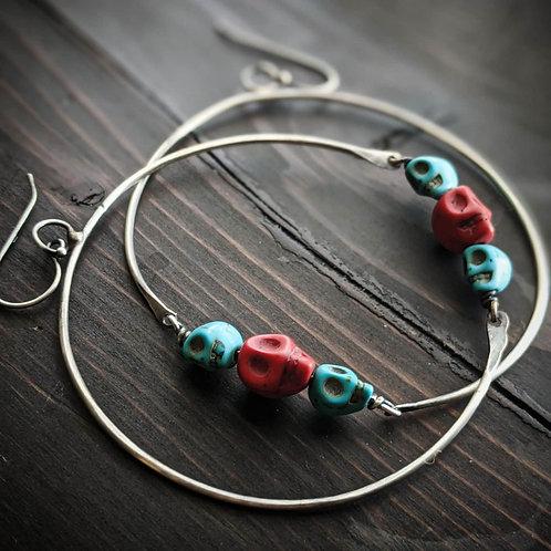 Skullie Hoop Earrings