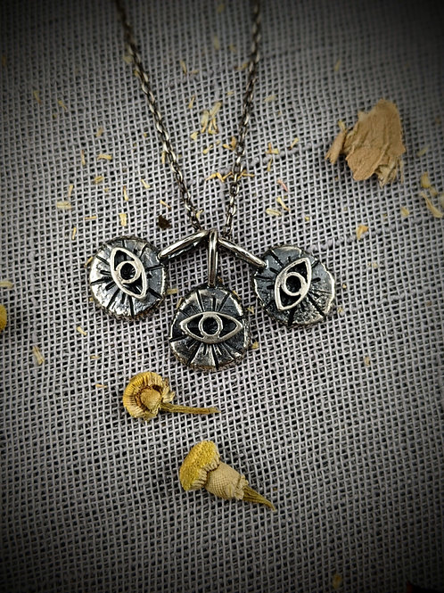 Odin's Eye Molten Drop Layering Necklace