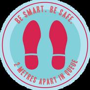 Be Smart. Be Safe._Floor Sticker_300mmDi
