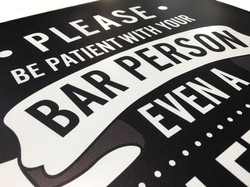 Bar Person Dibond Board