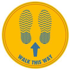 Walk Floor Sticker (Yellow)_300mmDia [Ar