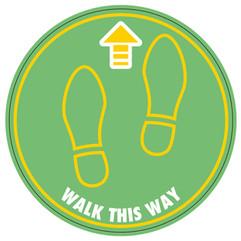 Walk Floor Sticker (Green)_300mmDia [Art