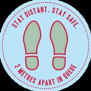Keep Your Distance_Floor Sticker_300mmDi