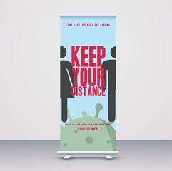 Keep Your Distance_Roller Banner_Mockup.