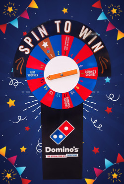 Dominos Spin to Win Stand