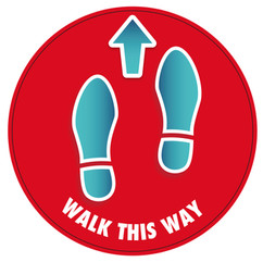 Walk Floor Sticker (RED)_300mmDia [Artwo